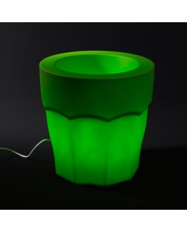 Valgustusega lillepott Spiritz roheline