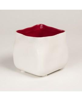 Lillepotiümbris Muck valge punasega